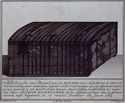 1983-3935 Afbeelding van de boekenkist, waarin Hugo de Groot uit slot Loevestein gevlucht zou zijn.