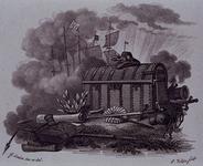 1983-3939 Afbeelding van de boekenkist, waarin Hugo de Groot uit slot Loevestein gevlucht zou zijn.