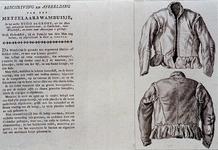 1983-3942 Afbeelding en beschrijving van het metselaarswambuis dat Hugo de Groot op zijn vlucht gedragen zou hebben.
