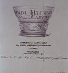 1983-3945 Afbeelding van het glas, dat door Hugo de Groot op Loevestein gebruikt zou zijn.