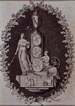 1983-3946 Allegorische voorstelling op de vlucht van Hugo de Groot uit Loevestein.Op de achterzijde: Trouw en ...