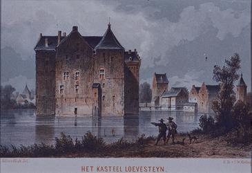 1984-10 Het kasteel Loevestein aan de buitenzijde.
