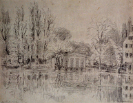 1984-312 Tuinhuis Boschhoek (van de familie Lutz) aan de Singelgracht. Uit het zuiden/zuidwesten gezien.