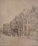 1984-316 Straatbeeld nabij de Witte de Withstraat (hoek geheel links). In het midden van de rij huizen A. Driessen.