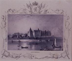 1984-9 Het kasteel Loevestein aan de rivierzijde.