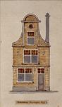 1985-6006 Voorgevel van een huis aan de Sleutelsteeg noordzijde.