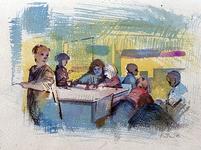 1986-1672 Schoolklas.