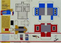 1986-614 Bouwplaat van de directiekeet Oud-Mathenesse. De samenstelling en de tekst zijn gemaakt door Piet Vollaard en ...