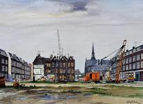 1987-2402 Sanering in het Oude Noorden tussen Hooglandstraat - links - en Johan Idastraat - rechts- . Midden: ...