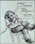1987-2649-2 Tekening van Gerard Goosen welke hij in de preriode 1973-1976 maakte voor aktiegroep het Oude Westen.