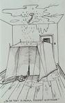 1987-2654-2 Tekening van Gerard Goosen welke hij in de periode 1973-1976 maakte voor aktiegroep het Oude Westen