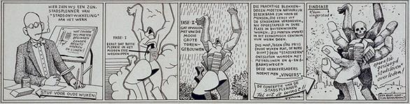 1987-2656 Tekening van Gerard Goosen welke hij in de periode 1973-1976 maakte voor aktiegroep het Oude westen.