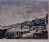 1987-301 De spoorbrug over de Nieuwe Maas vanaf de Boompjes ter hoogte van het Bolwerk. Achter de spoorbrug de ...