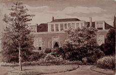 1988-664 Woning van Dr de Geer te Rotterdam 1889 .Achterzijde woonhuis van ds. L. de Geer aan de Schiekade (oostzijde) ...