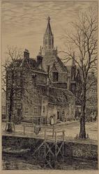 1990-1491 Zuiderkerk Gedempte Glashaven hoek Jodensteeg.