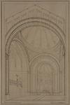 1990-1494-2 Interieur van de nieuwe Westerkerk aan de Kruiskade.