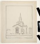1990-1495 Gezicht op de nieuwe Westerkerk aan de Kruiskade.