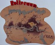 1990-2839 1945-1946Kaart van Rotterdam, gemaakt door de verzetsgroep LKP Rotterdam