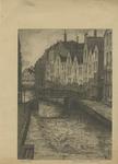 1990-382 Gezicht op het Spuiwater met de Krattenbrug, uit het zuiden.
