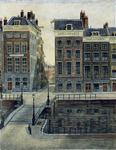 1991-1021 Grote Wijnbrug naar zuidzijde Wijnhaven en Wijnbrugstraat.Havelaar & Bos op nummer 46.
