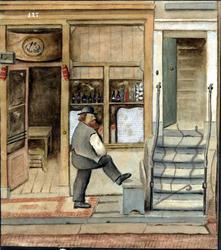 1991-1827 Het logement voor zeelui van C.H.F. Dittman aan de Schiedamsedijk nr. 127