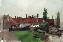1991-405 Gezicht op het Zwaanshals langs de Rotte.