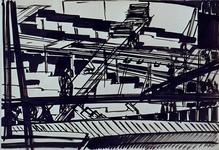 1992-20 Schetstekening van de bouw van de Doelen.