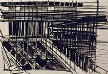 1992-22 Schetstekening van de bouw van de Doelen.