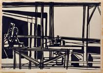 1992-23 Schetstekening van de bouw van de Doelen.