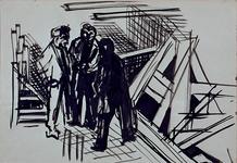1992-24 Schetstekening van de bouw van de Doelen.