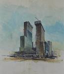 1992-250 Bouw van de kantoortorens aan het Weena