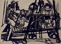 1992-27 Schetstekening van de bouw van de Doelen.