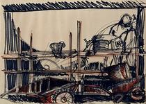 1992-32 Schetstekening van de bouw van de Doelen.