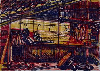 1992-34 Schetstekening van de bouw van de Doelen.