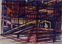 1992-36 Schetstekening van de bouw van de Doelen.