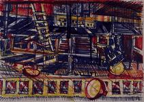 1992-37 Schetstekening van de bouw van de Doelen.