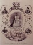 1993-2817 1898Gedenkplaat Ter herinnering aan de kroning van H.M. Koningin Wilhemina 1898. In het midden boven: de ...