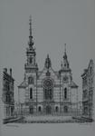 1994-66 De Noorderkerk aan de Jacob Catsstraat gezien vanuit de Erasmusstraat.