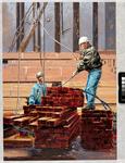 1997-177 Gezicht op het behandelen van stukgoed in een scheepsruim van een schip gelegen in de Maashaven bij B.V. ...