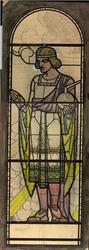 1997-299 'Kunstnijverheid', zinnebeeld voor Rotterdam als stad der kunsten. De kunstnijverheid is omgeven door een ...