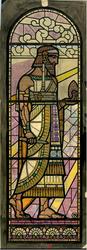 1997-301 'Architectuur', de genius wordt omgeven door de oudste twee bouwmeesters van Egype en Assyrië met hun ...