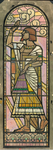 1997-308 'Architectuur', de genius wordt omgeven door de oudste twee bouwmeesters van Egype en Assyrië met hun ...