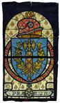2000-237 Het wapen van Frankrijk.Voorstudie voor het koepelraam van de centrale hal van het stadhuis (Coolsingel) te ...