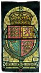 2000-242 Het wapen van Groot-Brittannië. Voorstudie voor het koepelraam in de centrale hal van het stadhuis ...