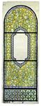2000-245 Leeg cartouche met tulpen, irissen en narcissen rondom. Onderaan een band van harten. Voorstudie voor een ...