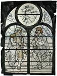 2000-252 'Poëzie en dramatische kunst', zinnebeeld voor Rotterdam als stad der kunsten. Voorstudie voor het raam in de ...