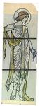 2000-256A 'Beeldhouw- en schilderkunst', zinnebeeld voor Rotterdam als stad der kunsten. De vrouw stelt de ...