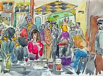 2000-67 Interieur van café De Kroon aan de Nieuwe Binnen-weg.