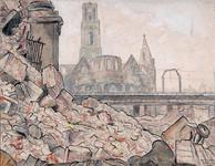 2002-1172 Gezicht op een berg puin aan de Gedempte Binnenrotte veroorzaakt door het Duitse bombarde- ment van 14 mei ...
