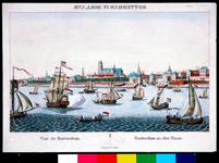 2002-968 Prospect, gezicht op de stad met de Nieuwe Maas op de voorgrond. Vanaf links gezien: de Ooster Nieuwe ...